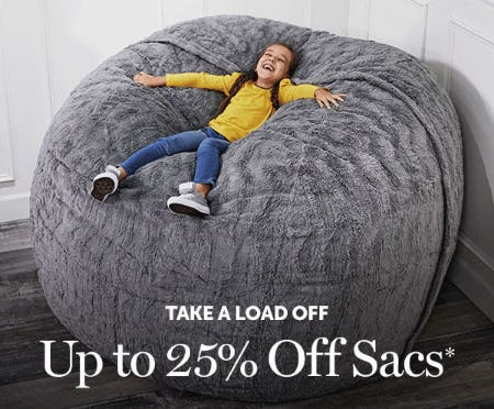 Up to 25% Off Sacs from Lovesac