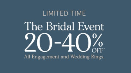 20-40% Off The Bridal Event