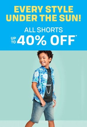All Shorts up to 40% Off from The Children's Place