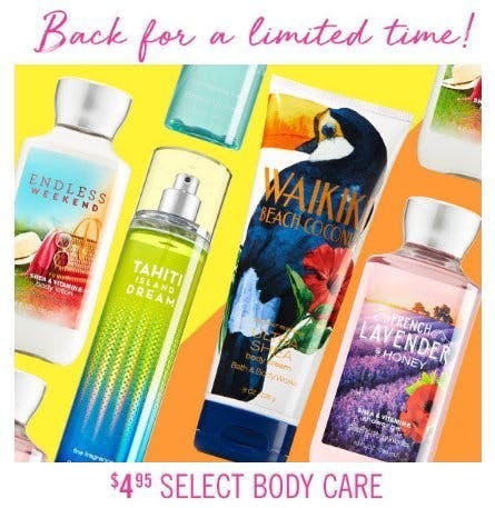 $4.95 Select Body Care