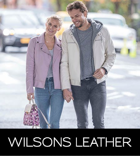 Designer Outerwear Event! Extra 20% Off Jackets from Wilsons Leather