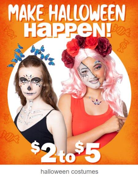 Halloween Costumes $2 - $5 from Five Below