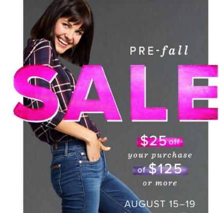 $25 Off Pre-Fall Sale