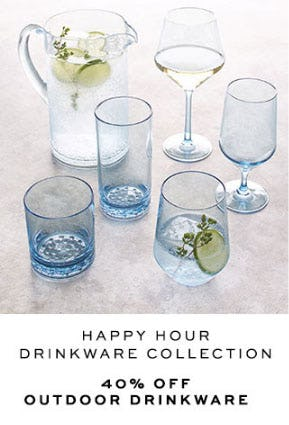 40% Off Outdoor Drinkware from Pottery Barn