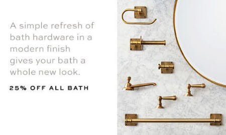 25% Off All Bath from Pottery Barn