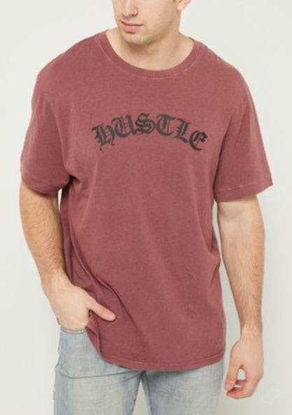 Burgundy Hustle Mineral Wash Tee from rue21