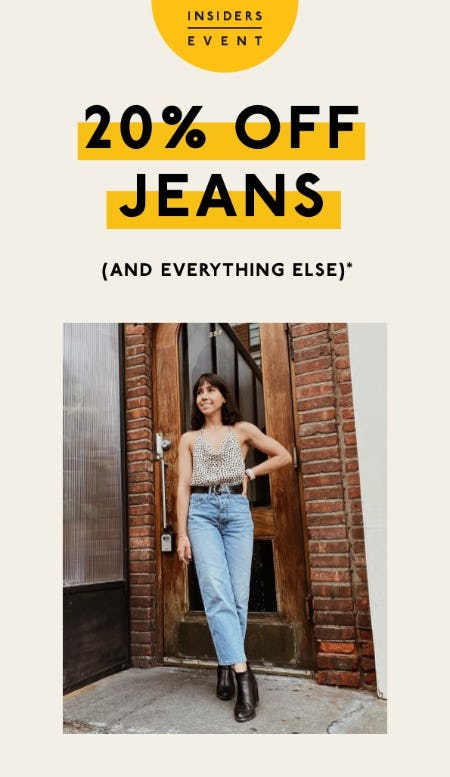 All Jeans are 20% Off from Madewell