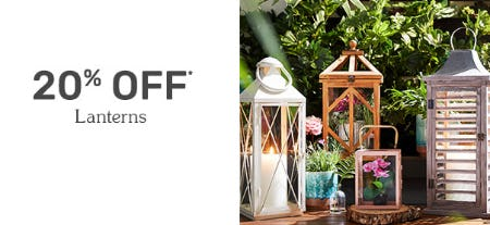 20% Off Lanterns from Pier 1 Imports