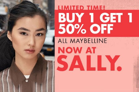 B1G1 50% Off All Maybelline