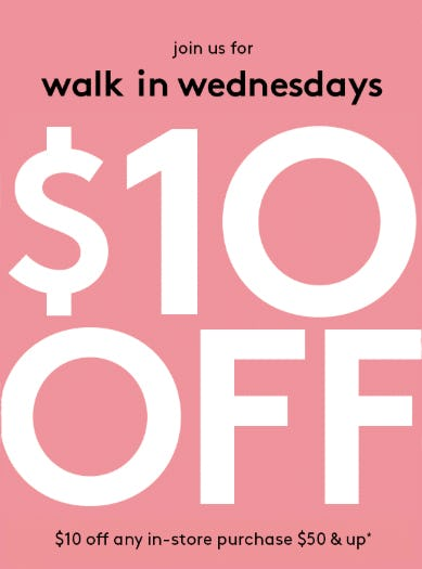 $10 Off Any In-Store Purchase $50 and Up from David's Bridal