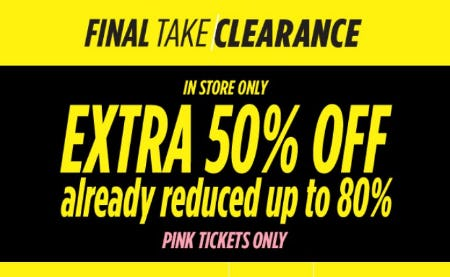 Extra 50% Off Already Reduced up to 80% from JCPenney