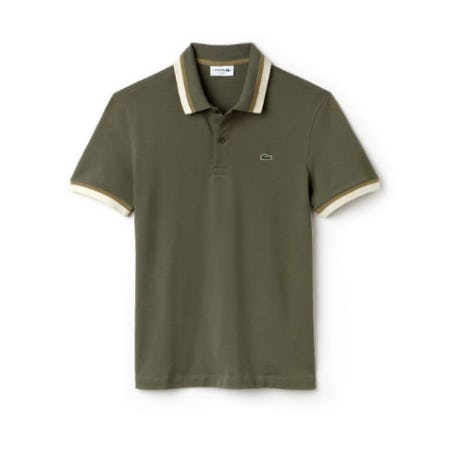 Men's Slim Fit Contrast Pima Piqué from Lacoste