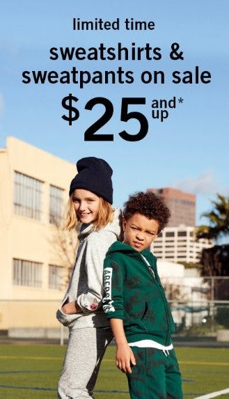 Sweatshirts & Sweatpants on Sale $25 and Up