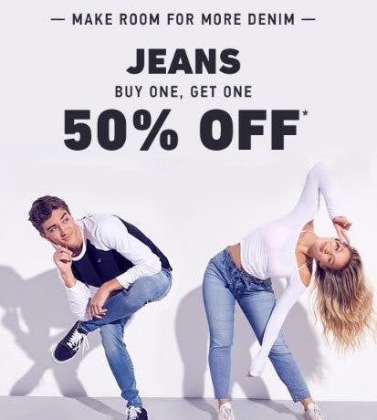 Jeans Buy One, Get One 50% Off from Hollister Co.