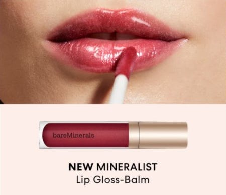 Our New Hybrid Lip Gloss plus Nourishing Balm from bareMinerals