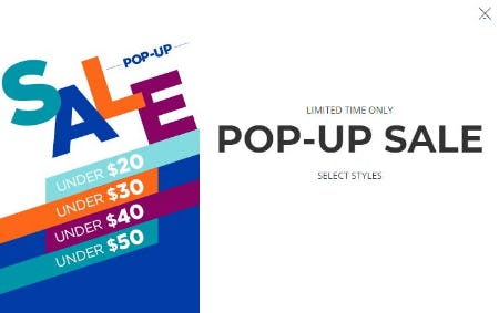 Pop-Up Sale Under $50 from Rack Room Shoes