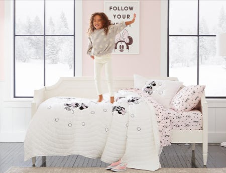 Meet our Oh-So-Sweet Disney Minnie Mouse Bedding Looks from Pottery Barn Kids