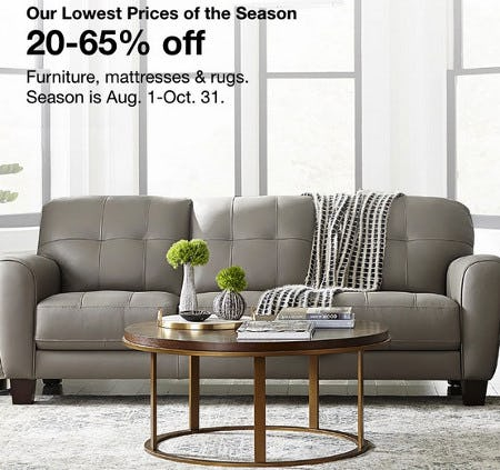 20-65% Off Furniture, Mattresses & Rugs from macy's