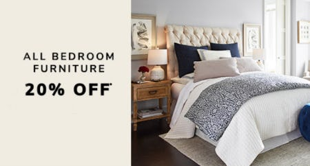 20% Off All Bedroom Furniture from Pier 1 Imports