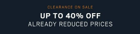 Up to 40% Off Already Reduced Prices from Men's Wearhouse