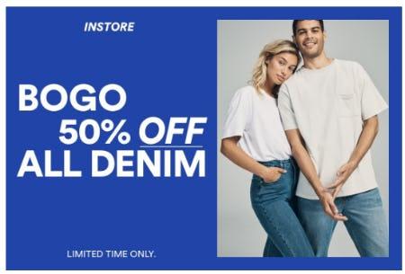 BOGO 50% Off All Denim