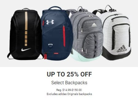 Up to 25% Off Select Backpacks from Dick's Sporting Goods