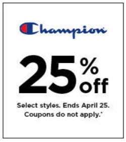 25% Off Champion from Kohl's
