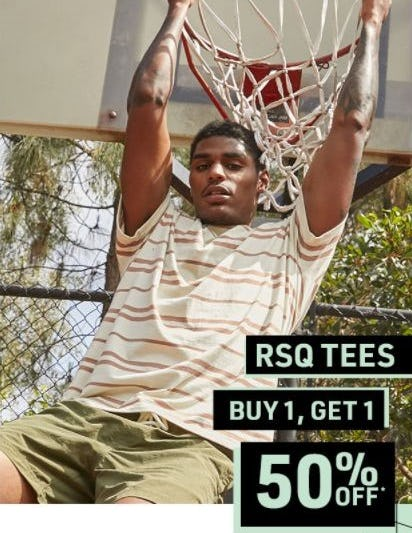B1G1 50% Off RSQ Tees from Tillys