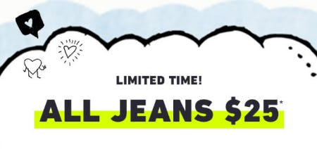 All Jeans $25 from Hollister Co.