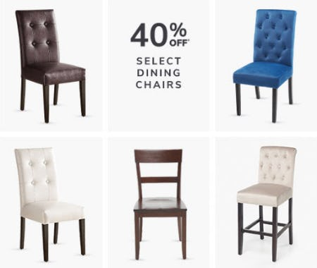 40% Off Select Dining Chairs from Pier 1 Imports