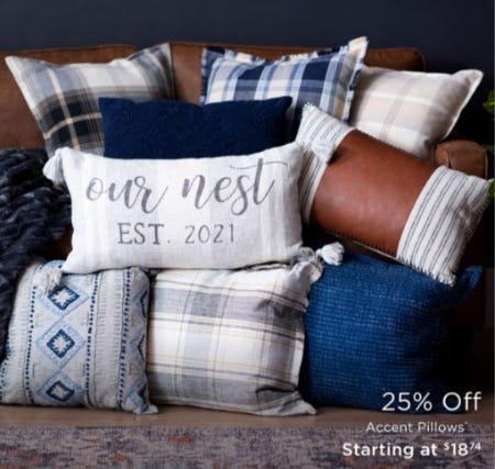 25% Off Accent Pillows