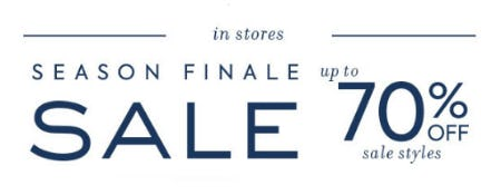 Up to 70% Off Season Finale Sale from Janie and Jack