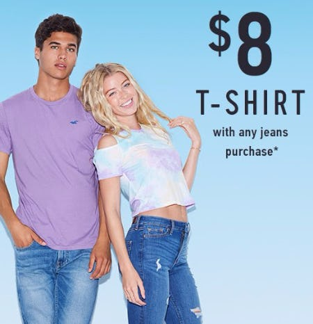 $8 T-Shirt With Any Jeans Purchase