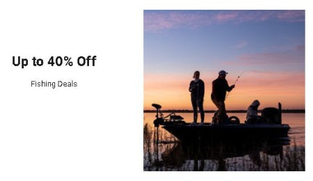 Up to 40% Off Fishing Deals from Dick's Sporting Goods