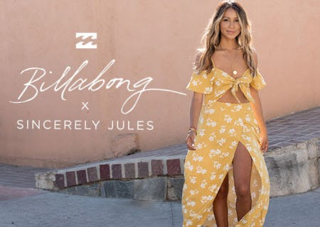 Billabong x Sincerely Jules New Collection from Tillys