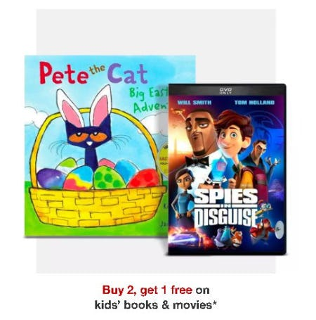 Buy 2, Get 1 free on Kids' Books & Movies