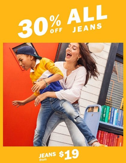 30% Off All Jeans from Old Navy