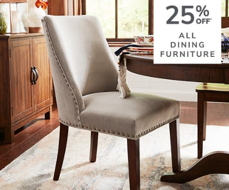 25% Off All Dining Furniture from Pier 1 Imports