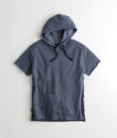 Logo Tape Short-Sleeve Hoodie from Hollister Co.