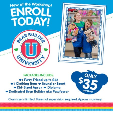 Sign up for Bear Builder University at Build-A-Bear Workshop®!