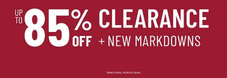 Up to 85% Off Clearance + New Markdowns from Jos. A. Bank