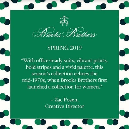Spring 2019 Women's Collection from Brooks Brothers