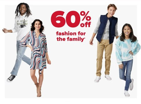 60% Off Fashion for the Family from Belk
