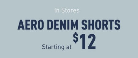 Aero Denim Shorts Starting at $12