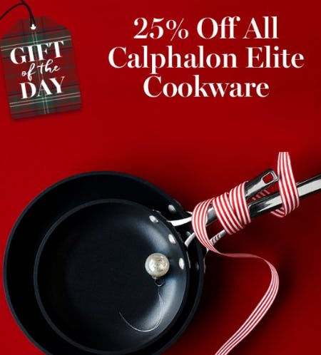 25% Off All Calphalon Elite Cookware