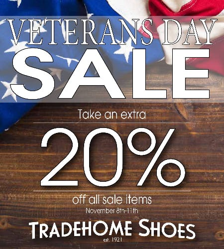Veteran's Day Sale from Tradehome Shoes
