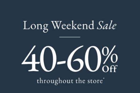 40-60% Off Long Weekend Sale from abercrombie