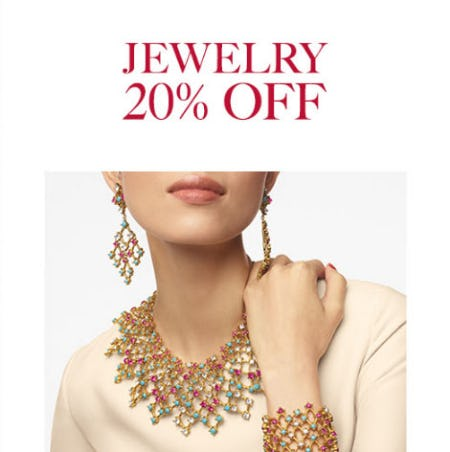 20% Off Jewelry from Neiman Marcus
