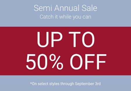 Semi Annual Sale up to 50% Off from sunglass hut