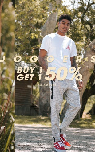 BOGO 50% Off Joggers from Tilly's